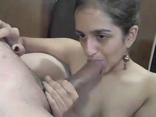 Sexy Indian Milf Gives Me Mind Blowing Wet Blowjob