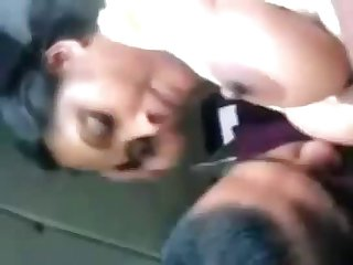 Mallu Aunt Stella Getting Her Boobs Sucked In Car Mms Video