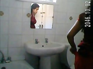 Renuka Sexy Cousin Filmed In Shower