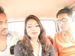 Bgrade Indian Desi Babe Has Her Boobs Pressed In A Car